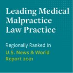 Photo that says leading medical malpractice law practice (regionally ranked