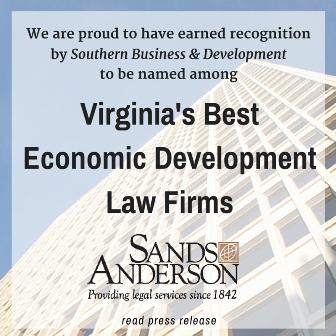 Sands Anderson a Virginia's Best Economic Development Law Firm